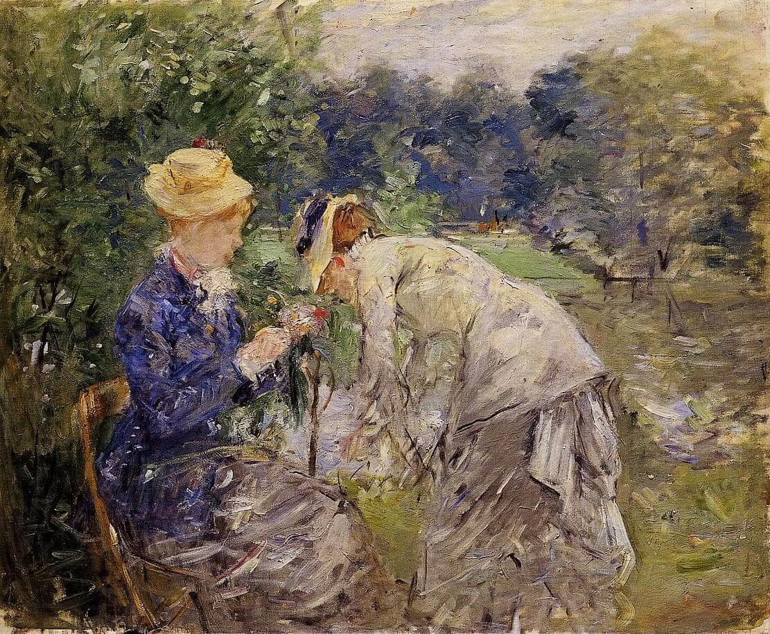 """""""În pădurea Bois de Boulogne"""" de Berthe Morisot"""